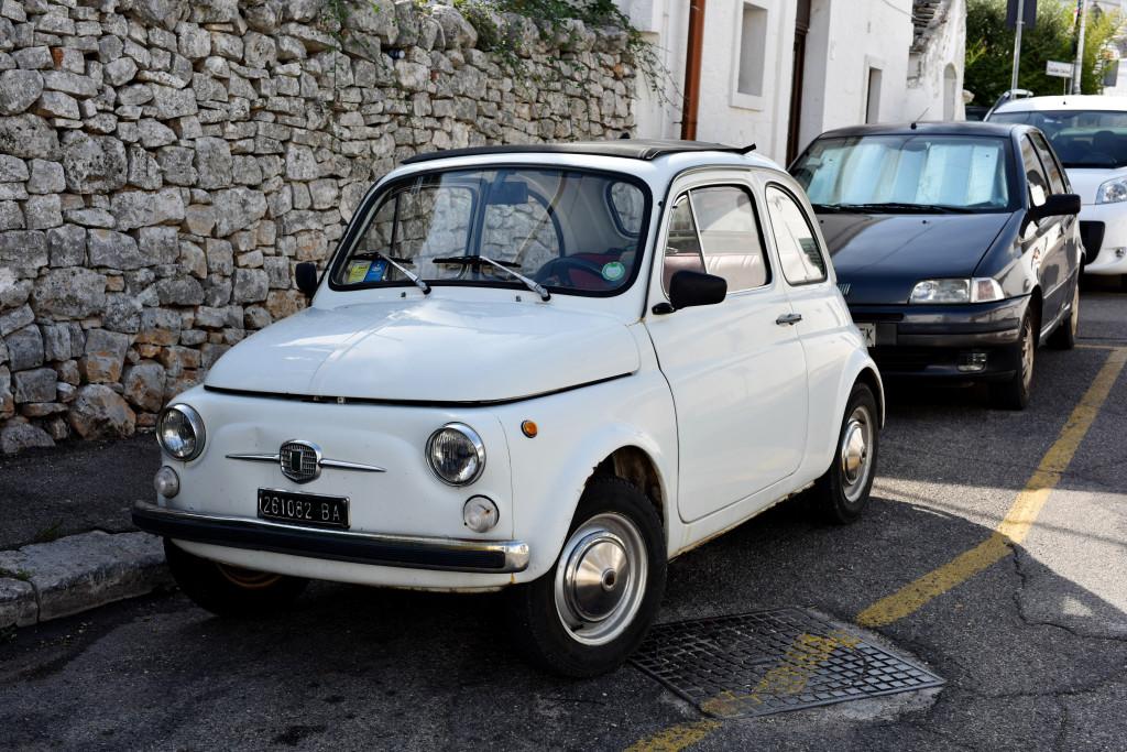 white Fiat Italy street